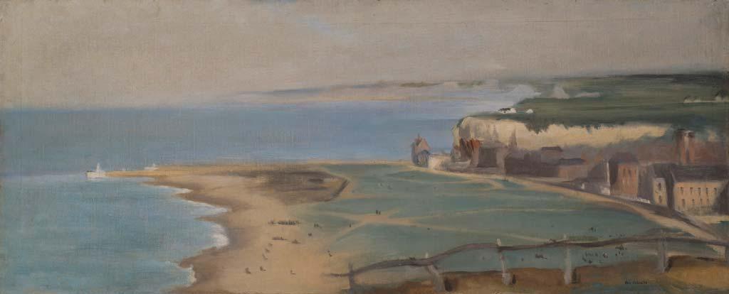 Plage de Dieppe vue depuis la Falaise Ouest, Éva Gonzales, 1871-1872, huile sur toile