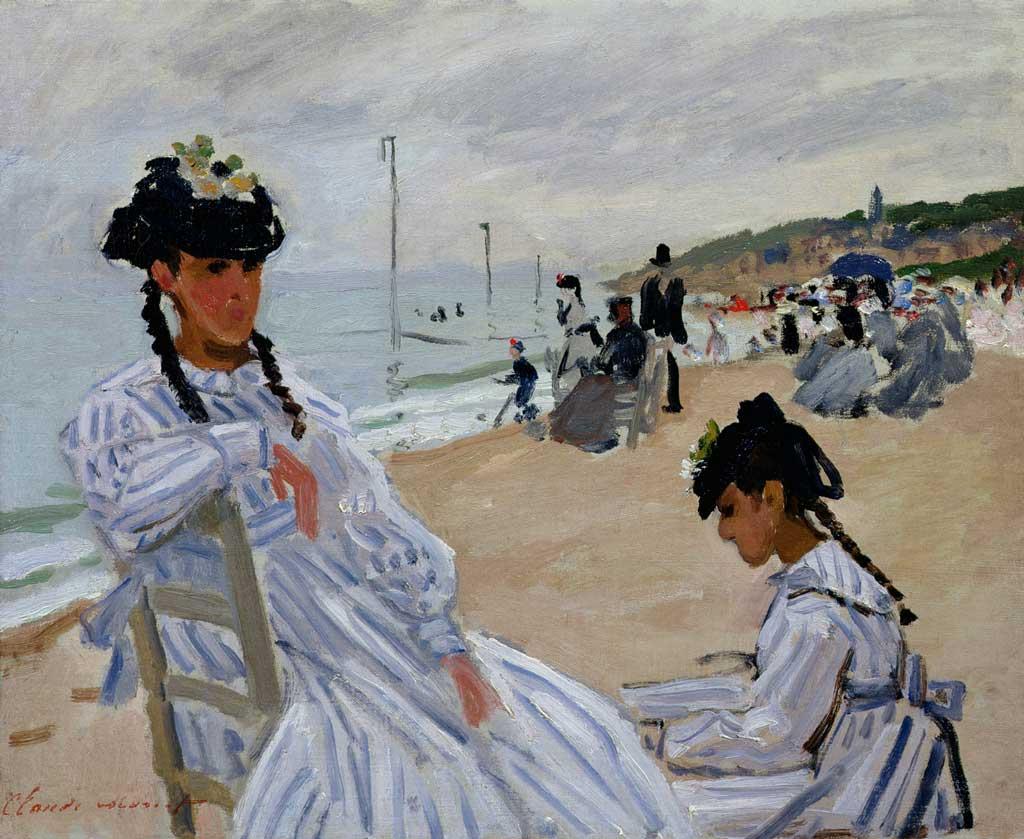 Sur la plage à Trouville, Claude Monet, 1870, Huile sur toile