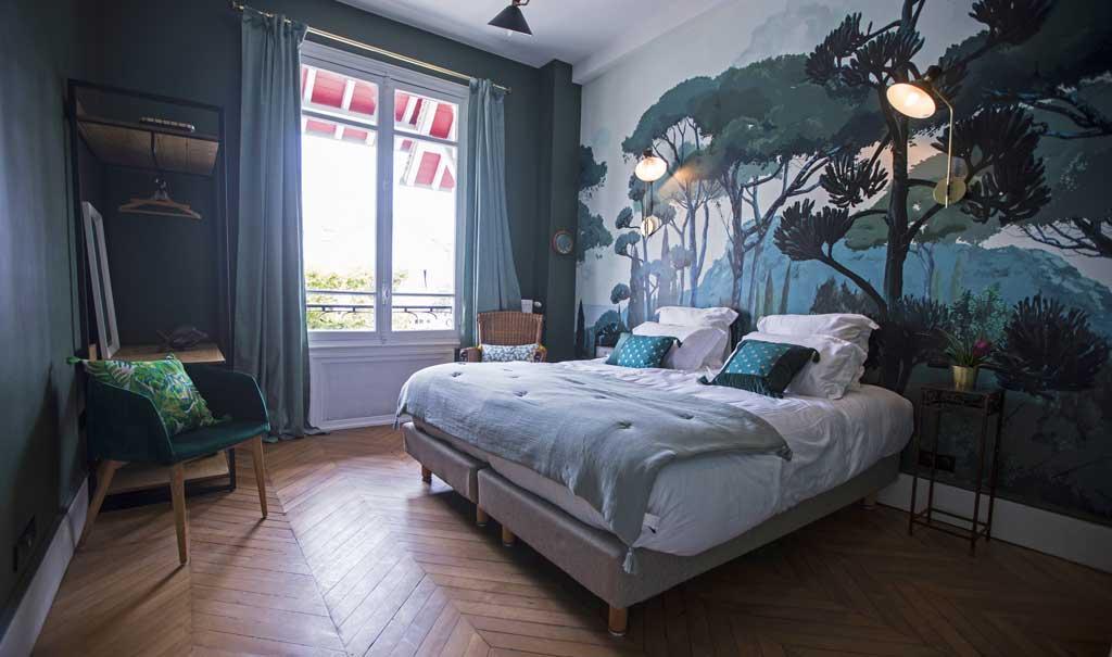 La chambre Jade, 1 des 5 chambres de la Maison REN, villa à louer à Deauville