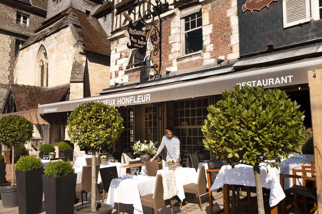 Terrasse du restaurant Vieux Honfleur