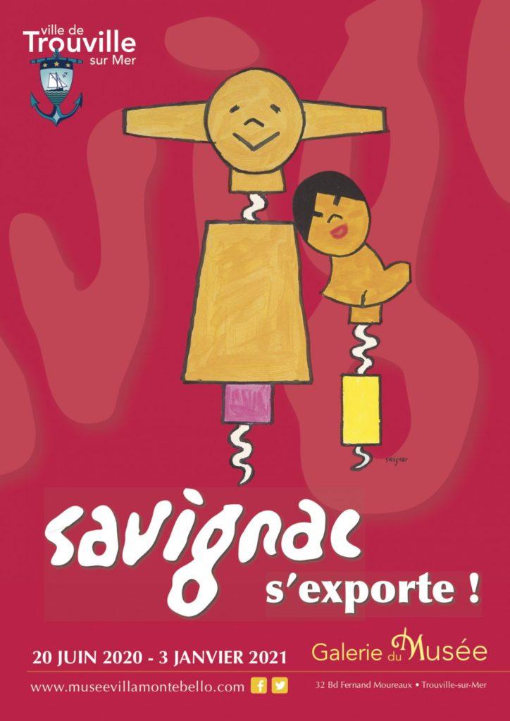 Exposition Savignac à Trouville en 2020