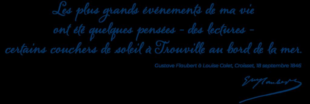Citation de Flaubert à Trouville-sur-Mer